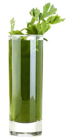 chlorophyll drink glass