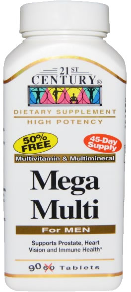 Best Multivitamins for Men 21st century mega