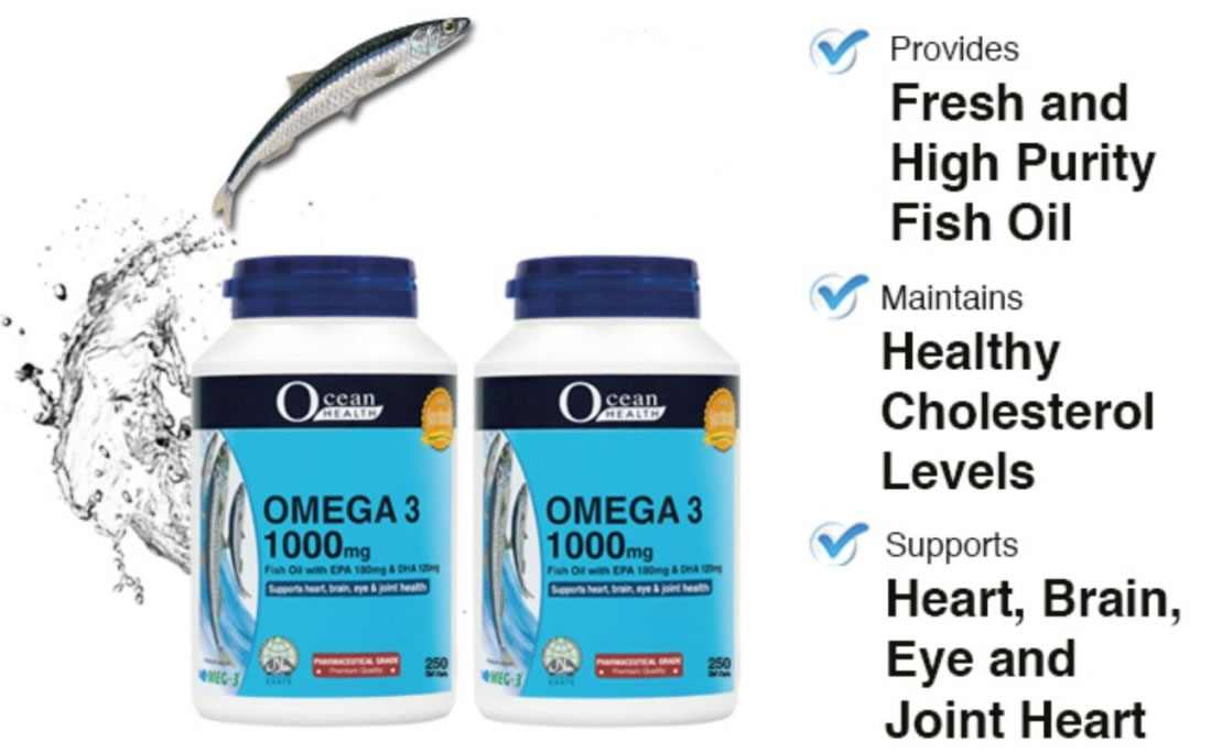 Ocean Health Omega 3 Fish Oil