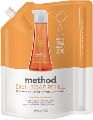 method home sg dish refill clementine