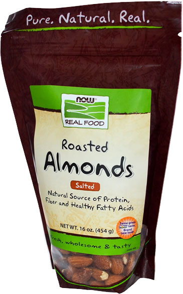 now foods roasted almonds