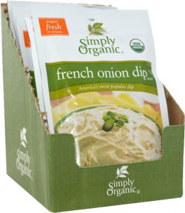 simply organic singapore sour cream dip