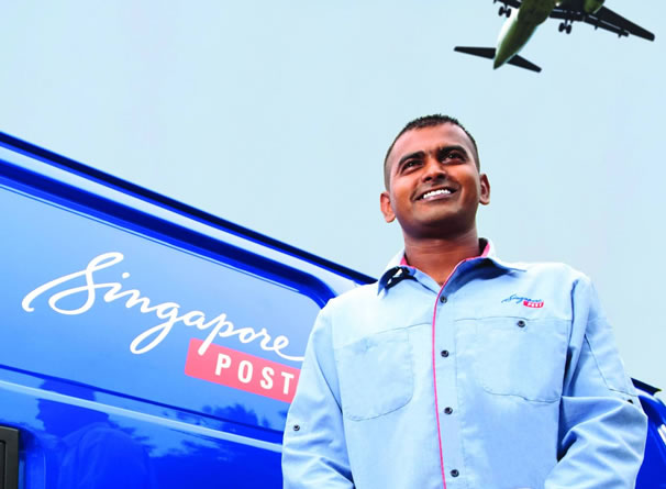 singpost delivery man